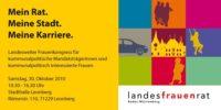 2010 - 4.Landestreffen des LFR und seiner Bündnispartnerinnen für kommunalpolitisch interessierte Frauen