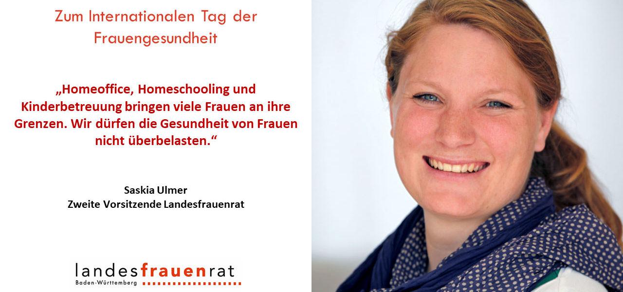 Zum Internationalen Tag der Frauengesundheit - Saskia Ulmer