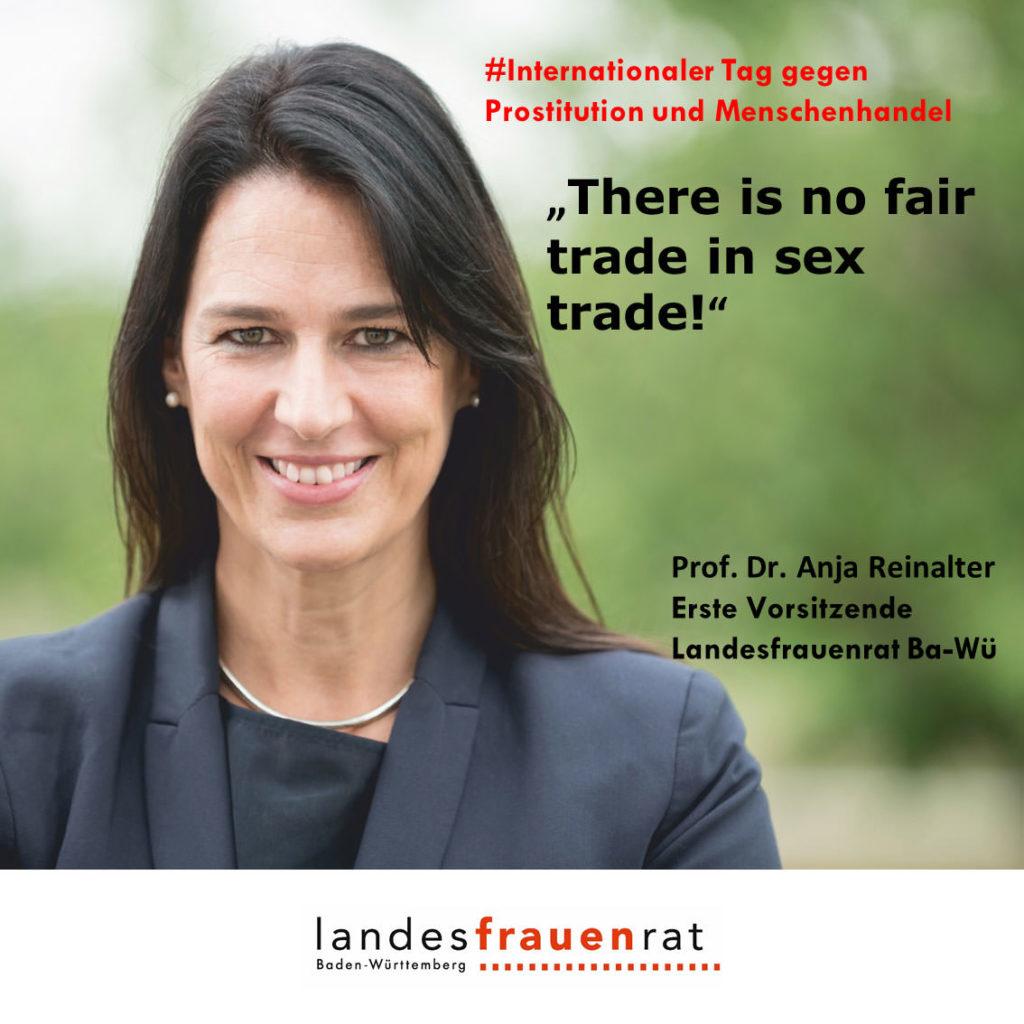 Prof. Dr. Anja Reinalter - Internationaler Tag gegen Prostitution und Menschenhandel