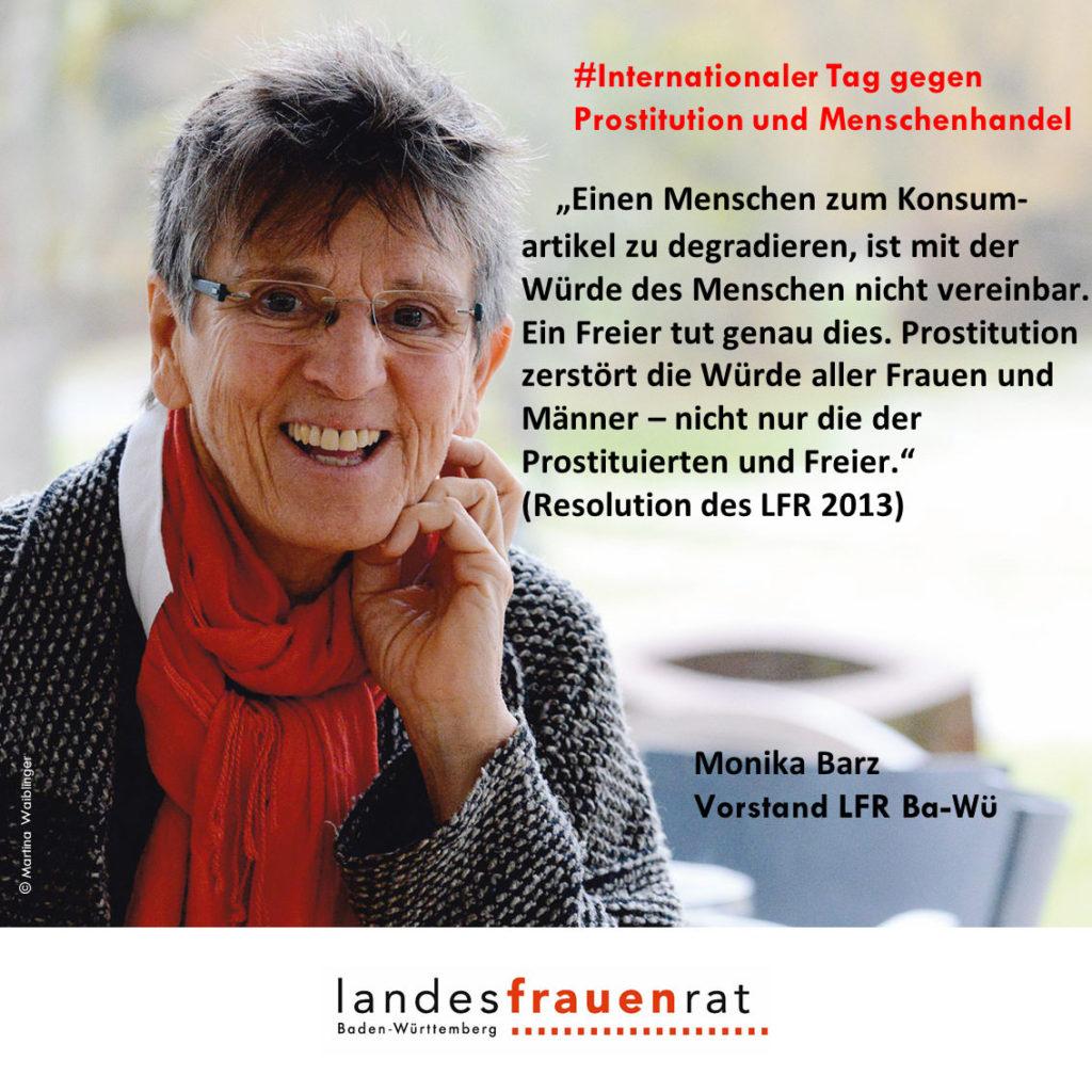 Monika Barz - Internationaler Tag gegen Prostitution und Menschenhandel