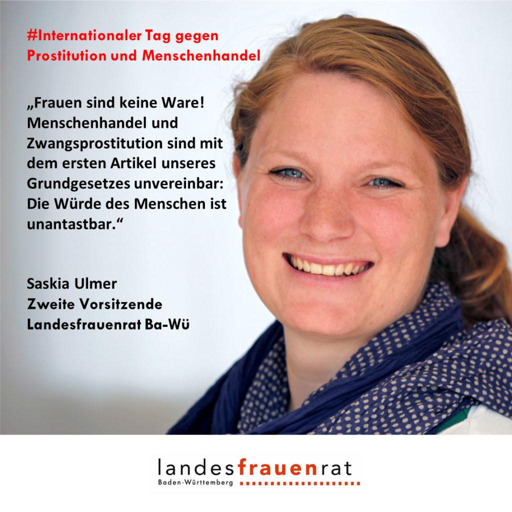 Saskia Ulmer - Internationaler Tag gegen Prostitution und Menschenhandel