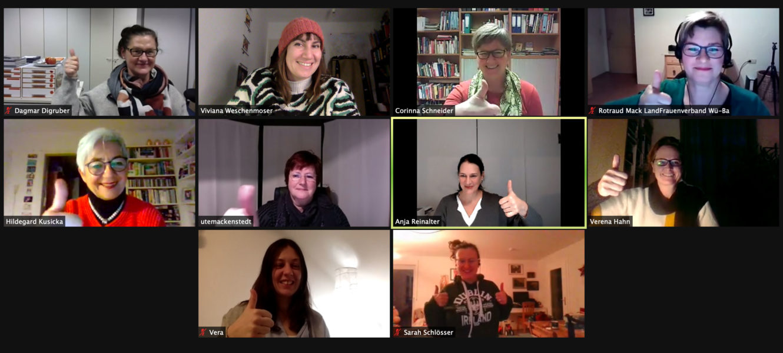 Digitale Sitzung des Landesfrauenrat 01 2021